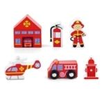 Afbeeldingen van Speelset brandweer 6 delig Viga