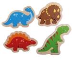 Afbeeldingen van Puzzels Dino's 4 x 2-delig 12m+ Bigjigs