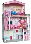 Afbeeldingen van Poppenhuis groot met meubels compleet Woody