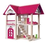 Afbeeldingen van Poppenhuis villa Anna-Marie 17-delig compleet met meubels Woody