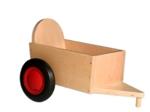 Bild von Aanhanger voor groene kinder-loopfiets beukenhout Van Dijk Toys