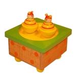 Picture of Muziekdoosje vierkant  bijtjes geel