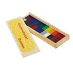 Picture of Stockmar wasblokjes 24 kleuren in houten kistje