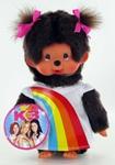 Afbeeldingen van Monchichi meisje K3 regenboogjurk