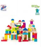 Picture of 100 stuks bouwblokken hout gekleurd Woody
