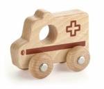 Image de Grijpauto hout naturel Ambulance - Vigatoys