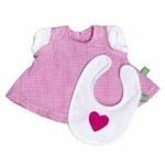 Afbeeldingen van Rubensbarn Kids kleding Jurkje roze met slabbertje