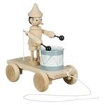 Picture of Trekfiguur Pinokkio met trommel blank beukenhout
