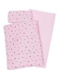 Bild von Poppenbedsetje dekje, matras en kussentje roze met hartjes en kroontje