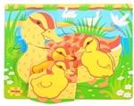 Afbeeldingen van Puzzel grote stukken Eend met jongen Bigjigs