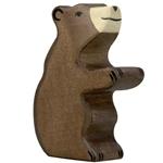 Afbeeldingen van Bruine beer welp zittend Holztiger