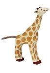 Afbeeldingen van Giraffe kalf etend Holztiger