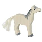 Bild von Paard grijze manen hoofd omhoog Holztiger