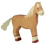 Image de Holztiger - Paard staand lichtbruin