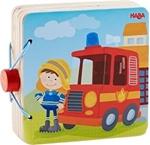 Afbeeldingen van Houten babyboekje Brandweer Haba