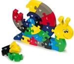 Afbeeldingen van Slakkenpuzzel met ABC