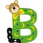Image de Gekleurde beren letter B