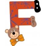 Image de Gekleurde beren letter F