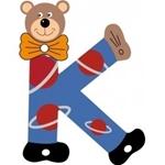 Image de Gekleurde beren letter K