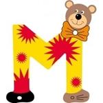 Image de Gekleurde beren letter M