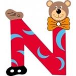 Picture of Gekleurde beren letter N