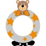 Image de Gekleurde beren letter O