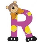 Image de Gekleurde beren letter R