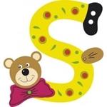 Image de Gekleurde beren letter S