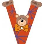 Picture of Gekleurde beren letter V
