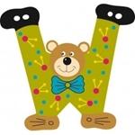 Image de Gekleurde beren letter W