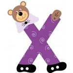 Image de Gekleurde beren letter X
