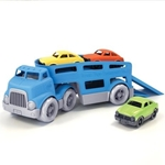 Picture of Autotransporter met drie autos - recycled plastic - Greentoys