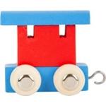 Afbeeldingen van Lettertrein gekleurd aanhanger blauw rood