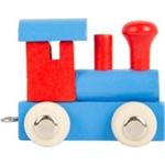 Afbeeldingen van Lettertrein gekleurd Locomotief rood blauw