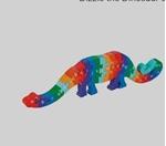 Image de Legpuzzel Dinosaurus Dizzy ABC Fairtrade