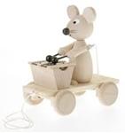 Afbeeldingen van Trekfiguur muis met xylofoon blank