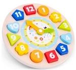 Afbeeldingen van Puzzelklok  leerklok met wijzers en 24 uren