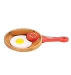 Picture of Houten speel-ontbijtset , pan met ei, tomaat en worstje Bigjigs