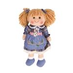 Afbeeldingen van Lappenpop Katie, blond haar, blauwe jurk