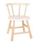 Picture of Kinderstoel, white wash zitvlak, gebogen leuning, beukenhout Van Dijk Toys