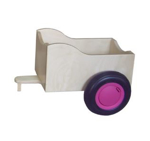 Bild von Aanhanger voor licht blauwe kinder-loopfiets berkenhout Van Dijk Toys