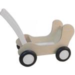 Picture of White wash Combi Poppenwagen - Leren loopwagen-Blokkenduwwagen Van Dijk Toys