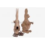 Afbeeldingen van Spaarpot haas konijn beukenhout