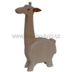 Afbeeldingen van Spaarpot Giraffe beukenhout