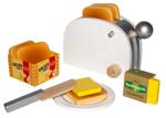 Afbeeldingen van Houten toastset met brood en boter