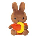 Picture of Nijntje Nina zittend 25 cm oranje bruin met gele maan