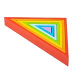 Picture of Houten stapelpuzzel 7 driehoeken regenboog Bigjigs