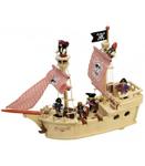 Picture of Piratenspeelschip hout met piraten Tidlo