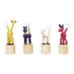 Afbeeldingen van Drukpoppetje mini Diertjes