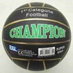 Picture of Voetbal rubber Champion Zwart 380 gram